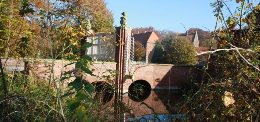 Reperaturarbeiten an der Egelborg in Legden