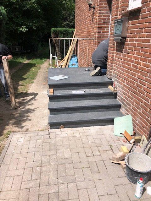 Renovierung Seiteneingang